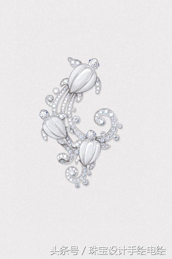 这些珠宝手绘设计手稿足以欣赏一整年