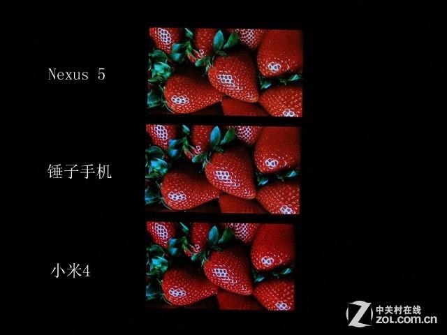 JDI夏普LG之战 米4/锤子/Nexus 5屏对比