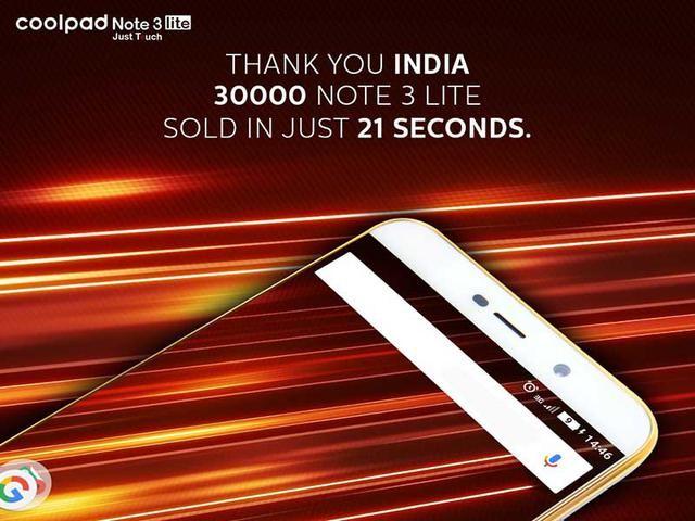 酷派Note3 Lite创印尼销售市场更快限时抢购纪录