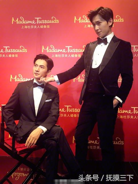 26岁杨洋和自己的真人倒模同框,真假难辨,帅出新高度