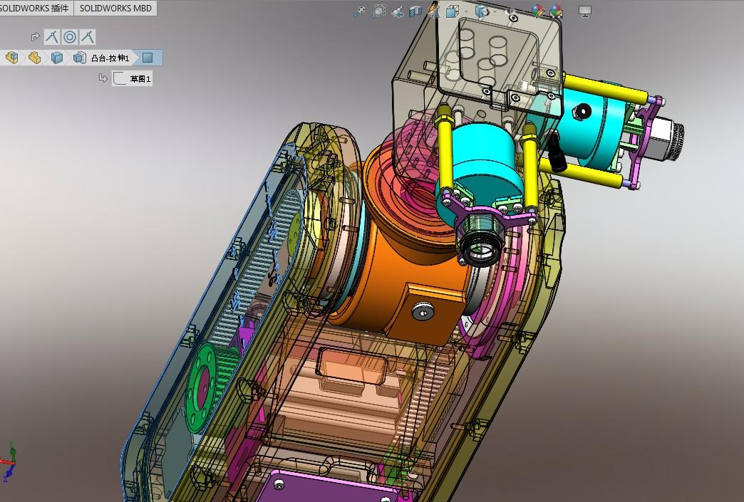 6关节机器人本体(含电机减速机)三维建模图纸