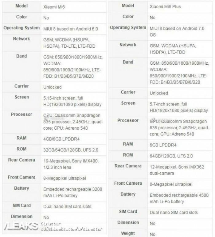 四月份的小米6,骁龙835发展市场价1999元!