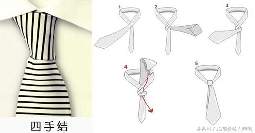 男士必学技能:图解6种常见的领带打法,你都尝试过吗?