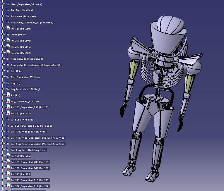 人形外星人造型三维建模图纸 STP格式