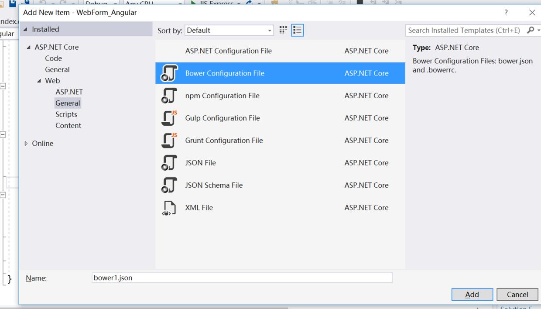 .net core+angularjs windows