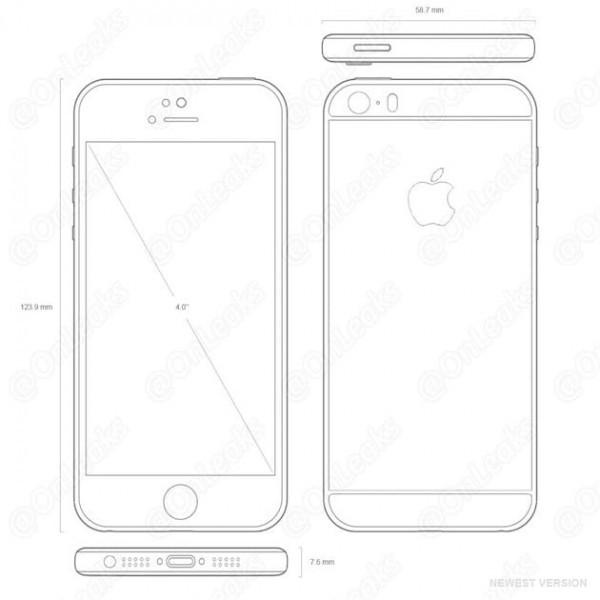 果真就长那样! 疑iPhone 5se设计图纸曝出