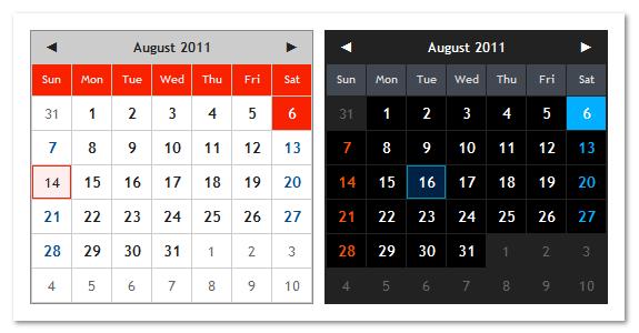 Web工程师,你所不知道的 jQuery日期/日历插件