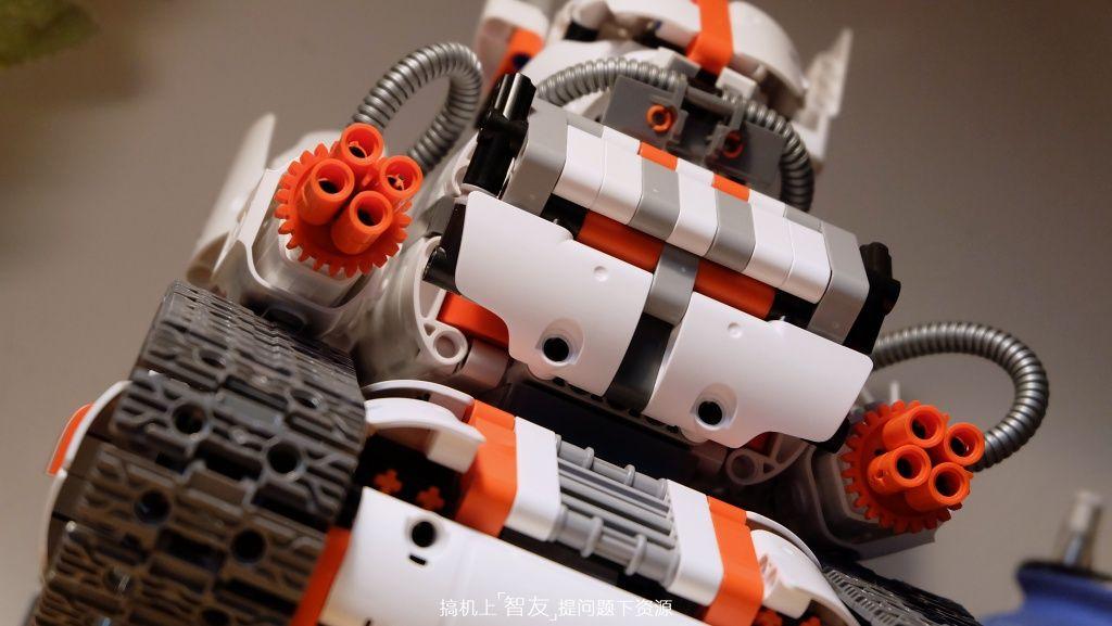 小米米兔积木机器人履带机甲动手玩