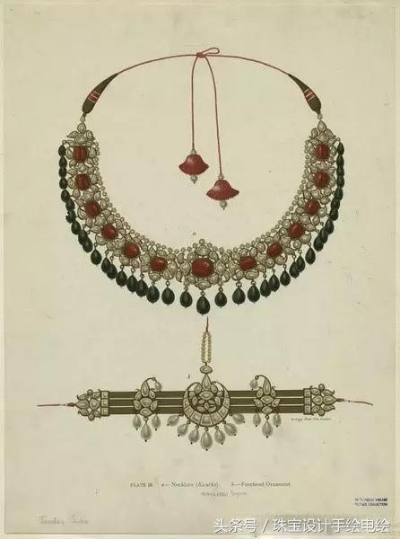 珍藏|珠宝设计手绘图稿