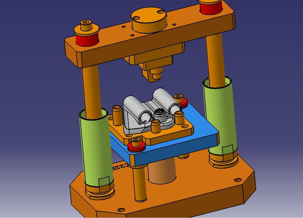 轴承压入工装设备3D模型 stp格式文件