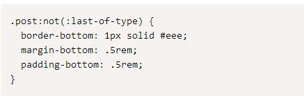 前端开发:CSS小技巧:使用:not(:last-of-type)简化你的css代码