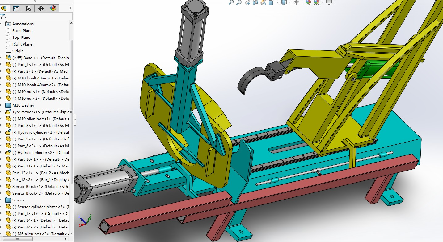 轮胎气囊拆卸机3D模型图纸 Solidworks设计 附IG