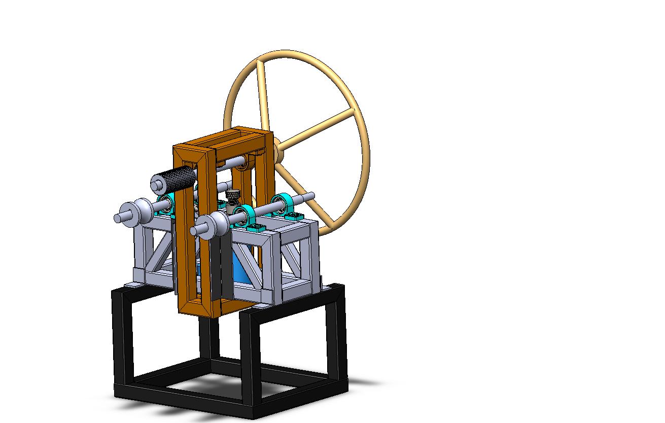 液压弯管机模型3D图纸 Solidworks设计