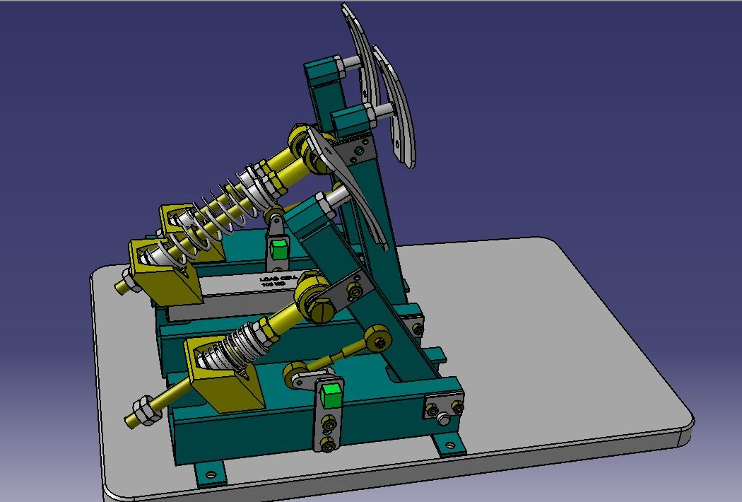 赛车踏板模型3D图纸 STP格式