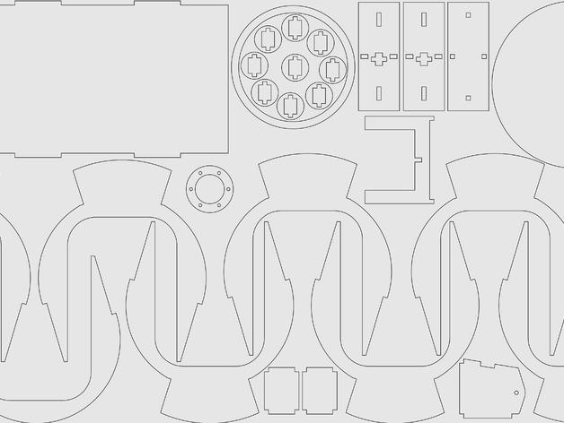 虎式坦克平面激光雕刻图纸 SVG AI格式