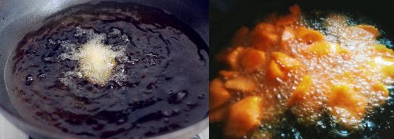 甜糯的拔丝地瓜 美食做法 第3张