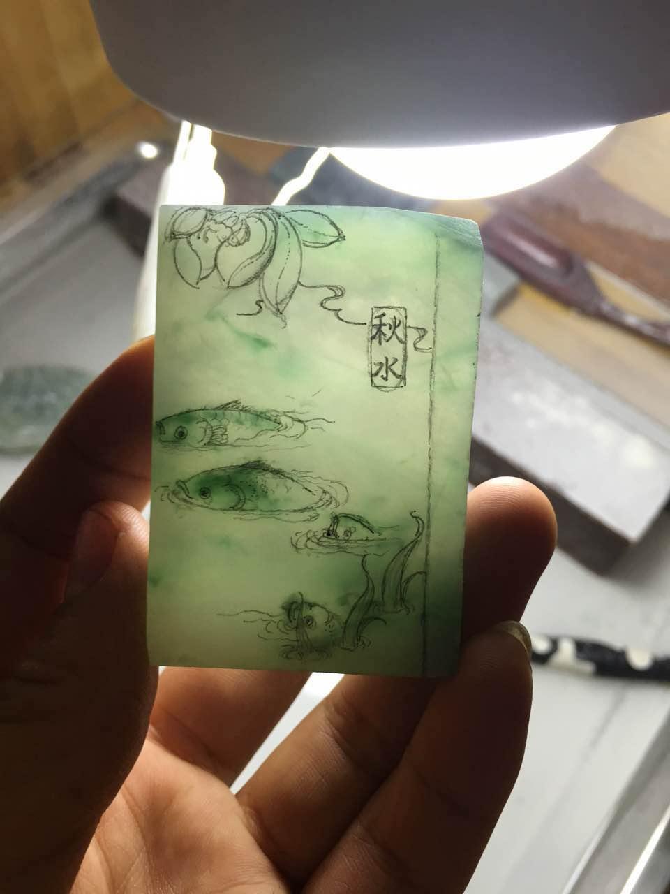 一片来自翡翠雕刻大师—张祥伟的艺术设计