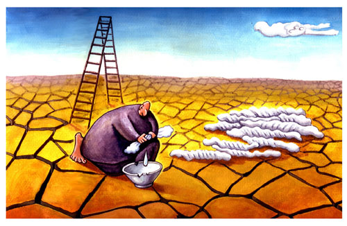 天天漫画网:漫画家王真《人生百态 匍匐于地》