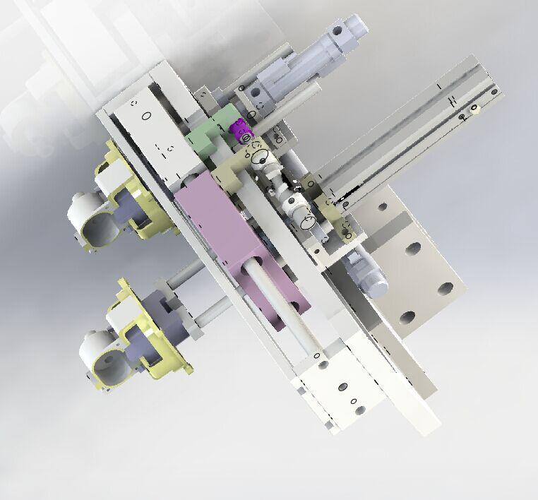 双行程移载机构3D模型 Solidworks设计附IGS