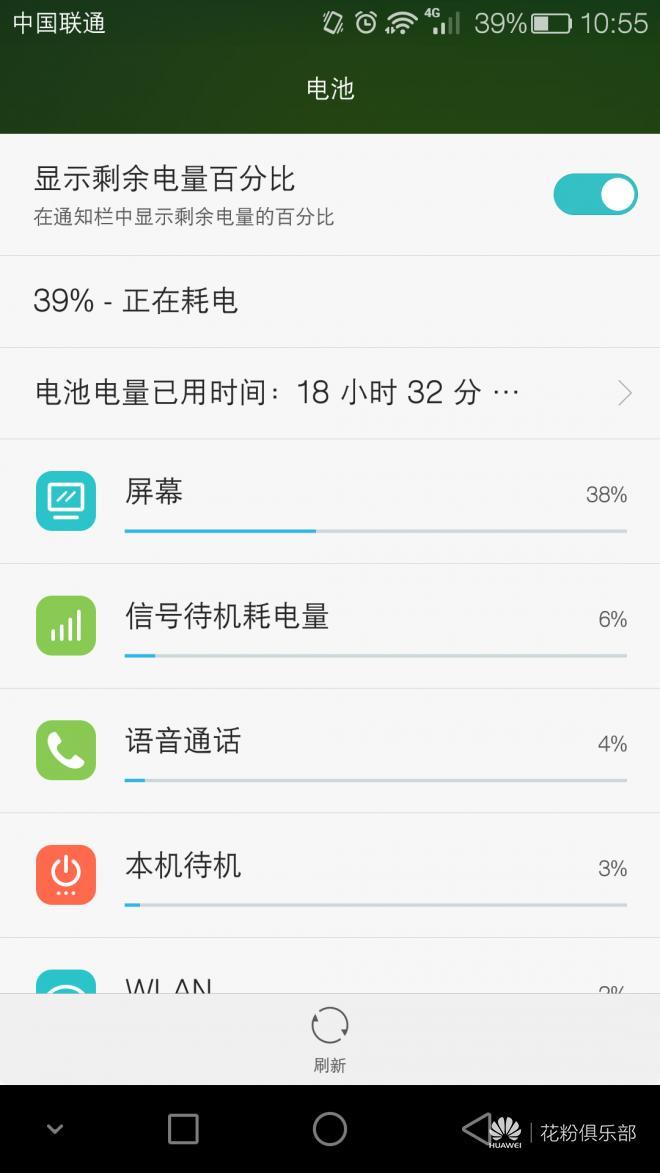 华为公司荣耀畅玩5X——充电电池耐磨性能