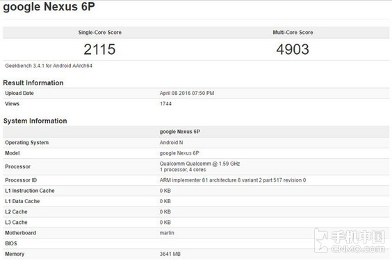 新版本Nexus 6P亮相:骁龙820/Android N