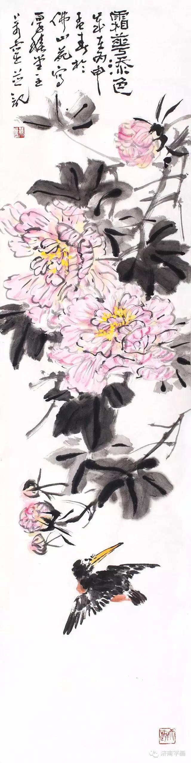 """笔墨丰厚,造型高雅——评青年画家孙万灵""""自成气象""""的写意花鸟"""