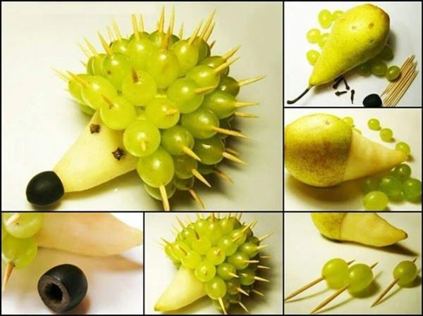 28个用水果砌出来的动物造型!太可爱了,你舍得吃掉吗? 水果砌出来的动物造型 第4张