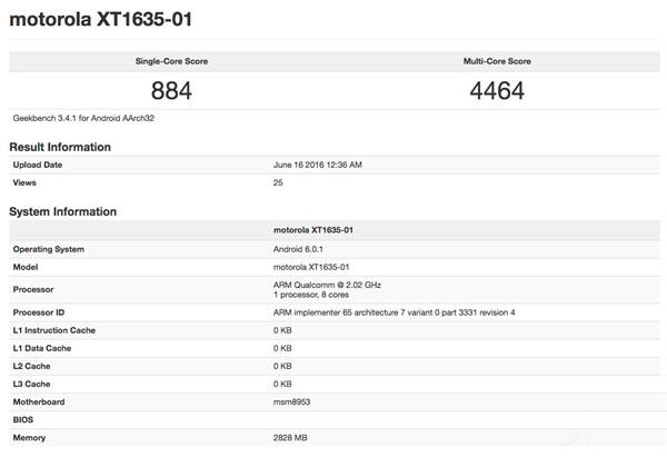 想到Moto Z Play曝出 骁龙625 3GB运行内存