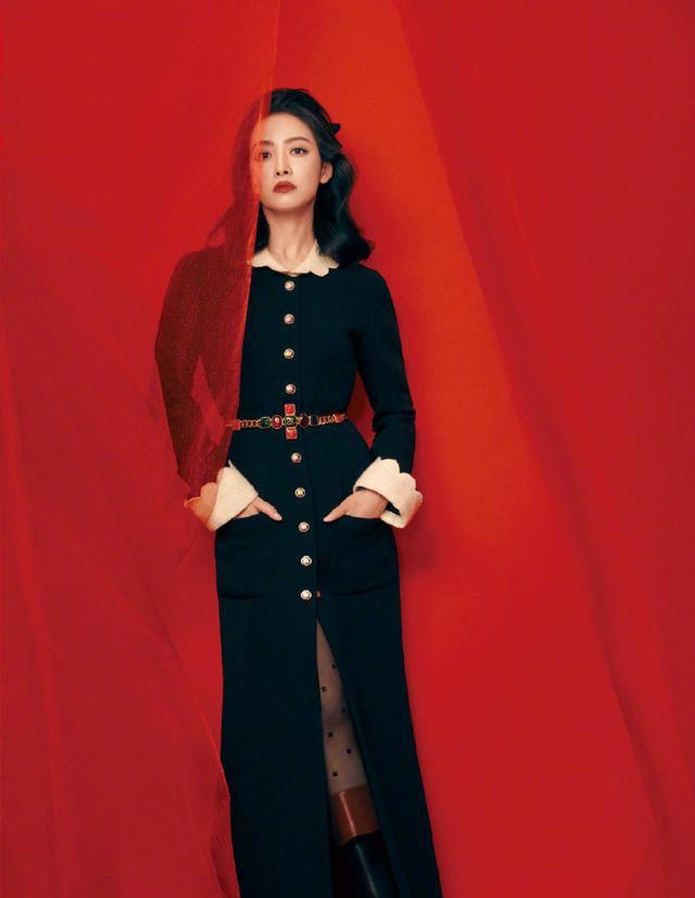 宋茜暗黑公主造型来袭!丝绒黑裙配复古卷发名门泽佳效果优雅俏丽
