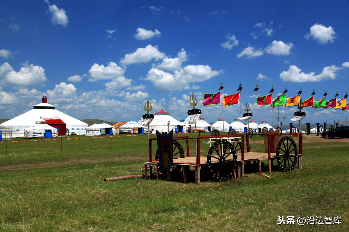 沿内蒙古古族基层民主区4200国界线头遍布着19个边境线旗、市,14个边境线港口
