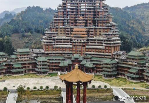 """中國最牛建筑-貴州獨山水司樓,高達99.9米,也是世界上最大的""""水族建筑"""""""