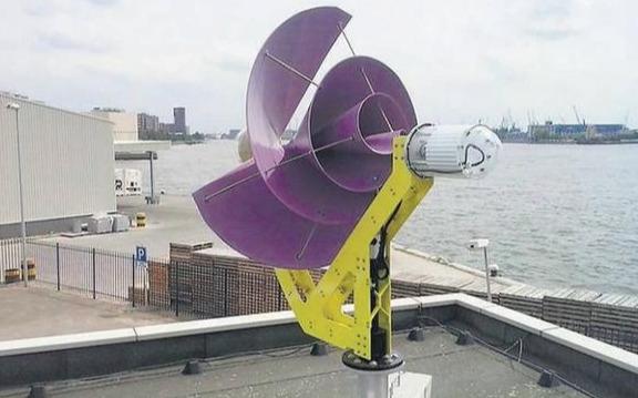 """家用""""螺旋玫瑰""""发电机,直径1.5米,一年发电1500度"""