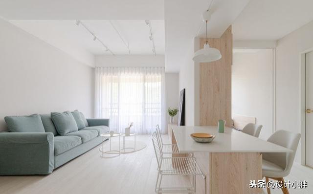 66㎡清新宅,纯白色+原木调打造2+1房,仙气又浪漫,爱了