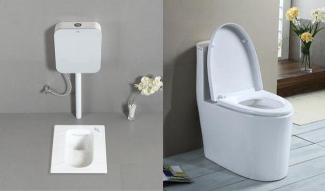 你见过蹲坐两用的马桶?在蹲便器上装个圈,如厕实现两全其美