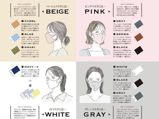 """真服日系杂志的用心,独特""""口罩配色""""穿搭,生活再难爱美心不失"""
