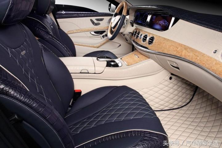把豪华的气质发挥到极致的奔驰s600内饰改装