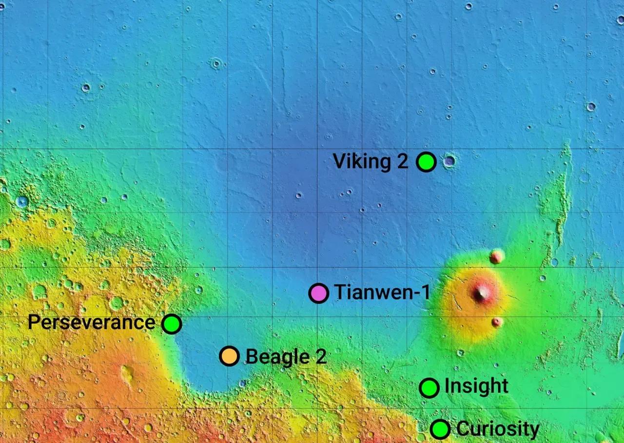 火星近照来了!有网友疑问,为何和海盗二号拍摄的照片有差异?