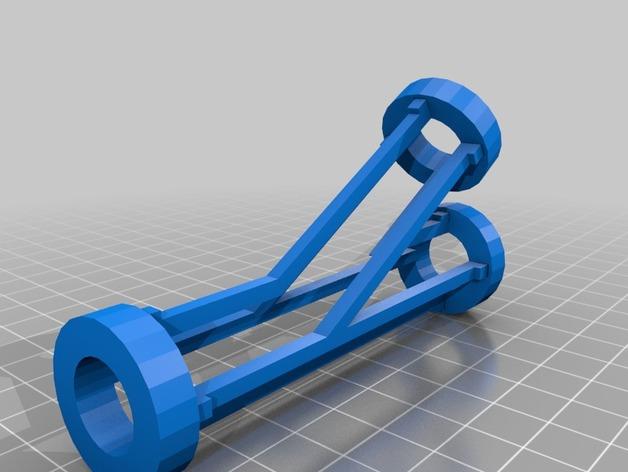 可自由组合的弹珠过山车轨道3D打印图纸 STL格式