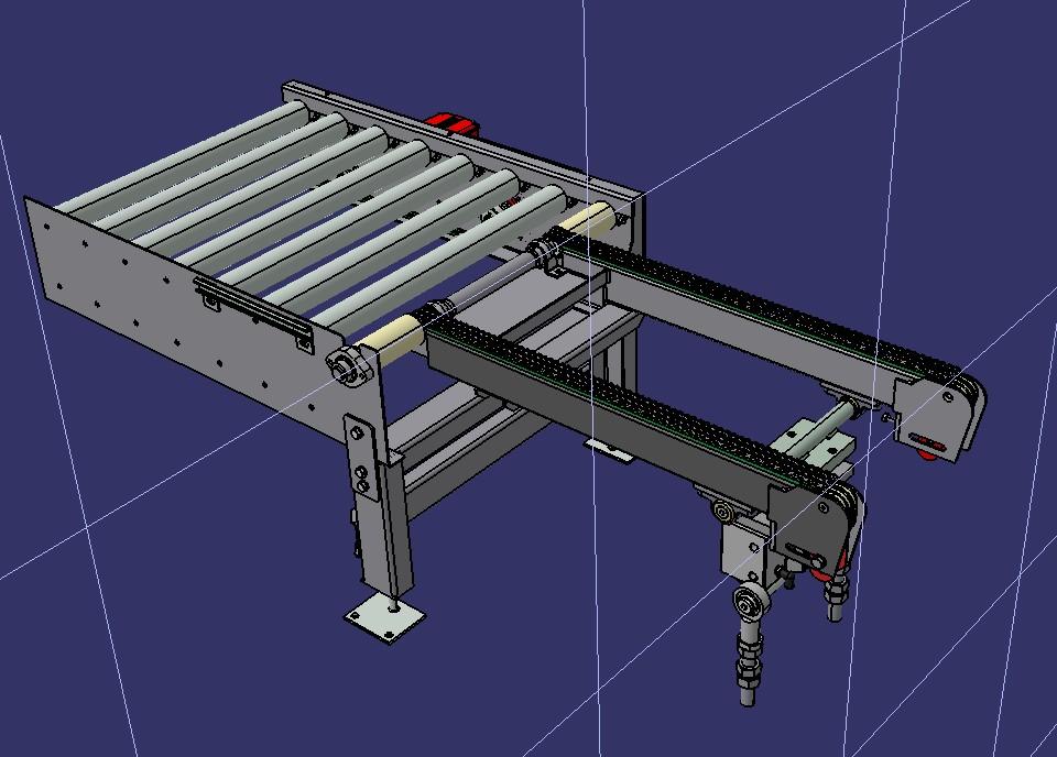 drum transfer转鼓滚筒输送机3D数模图纸 STP格式