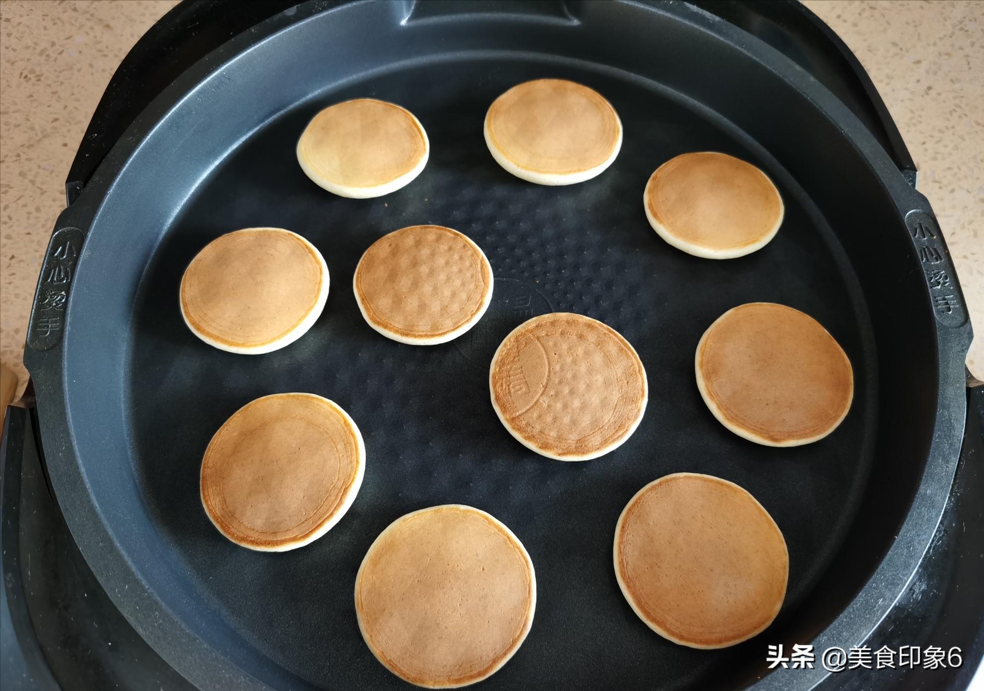 孩子們最愛的銅鑼燒,在家做簡單實惠,低脂零添加,好吃極了