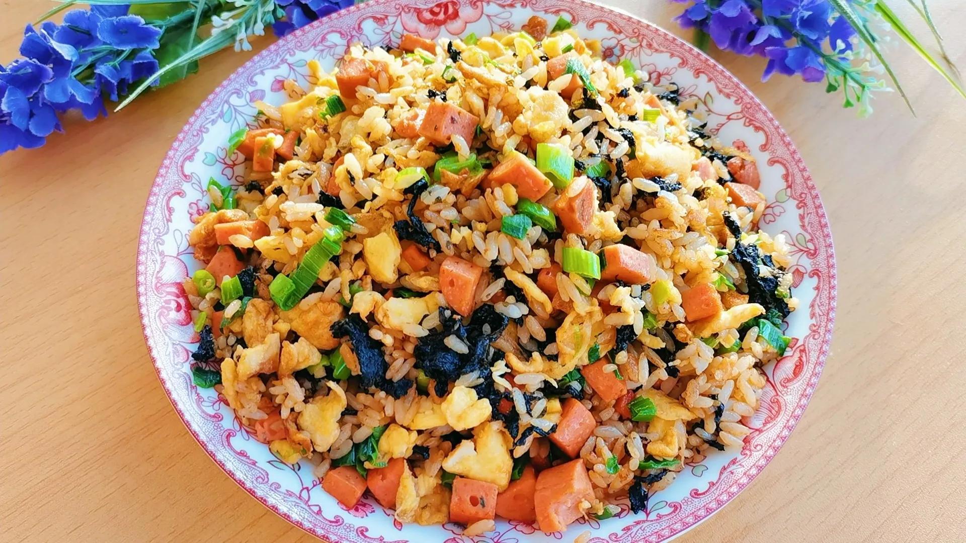 紫菜不要老做汤,试试这样做,好吃又营养,老中幼都爱吃 美食做法 第14张
