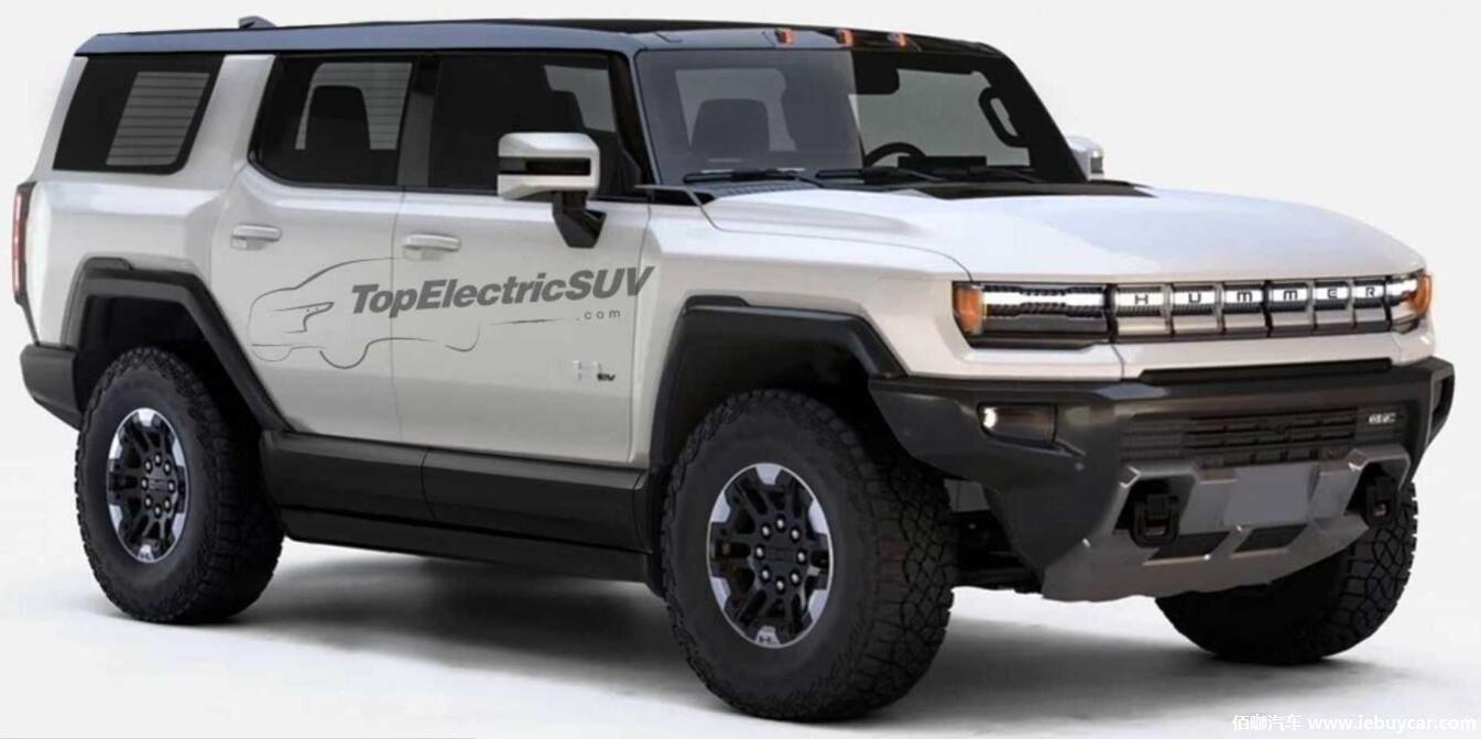 3秒破百 GMC悍马EV SUV渲染图曝光 续航或350英里