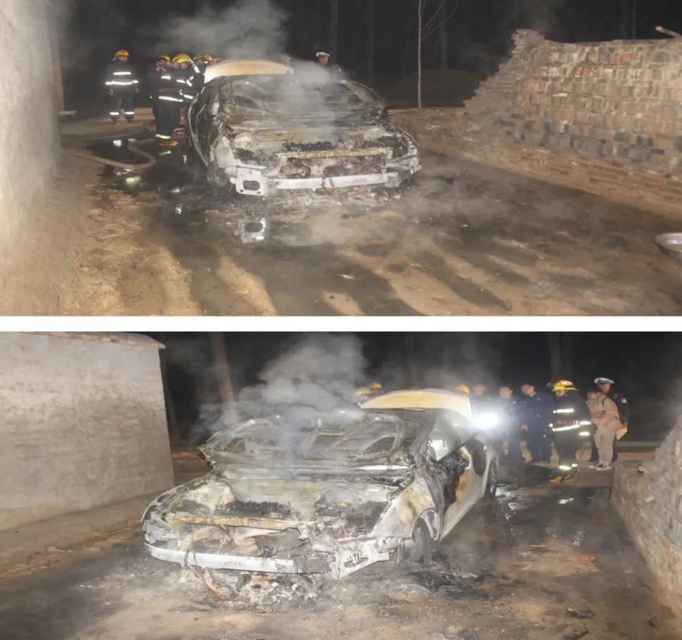 鹿邑交警联合多部门开展车辆自燃交通事故应急救援演练
