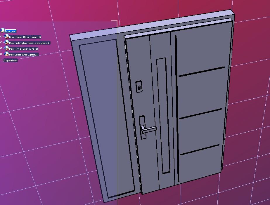 entrance door门3D数模图纸 STP格式