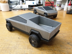 2款Tesla Cybertruck特斯拉皮卡车3D打印图纸 STL格式
