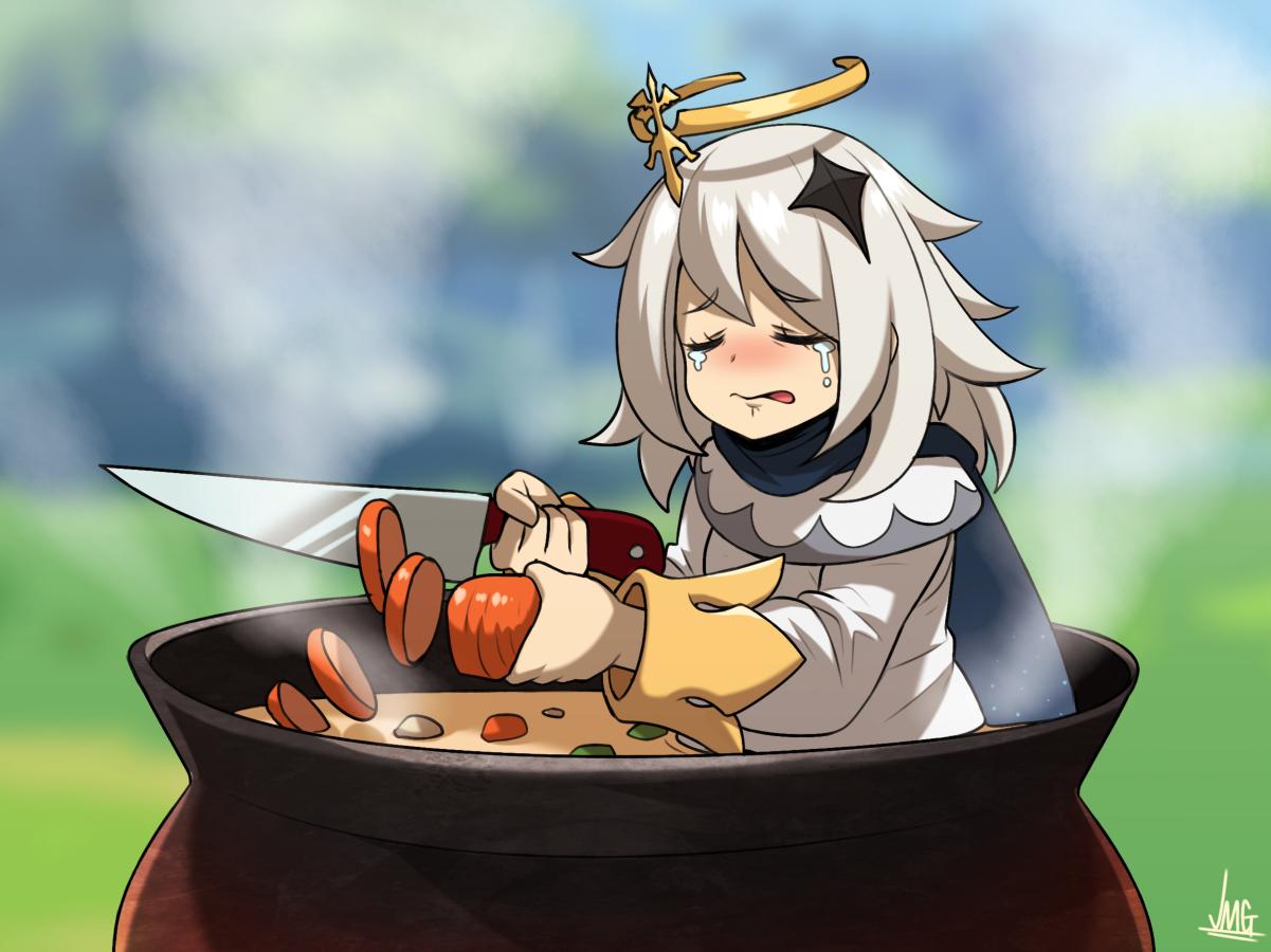 原神:论应急食物派蒙的十种烹饪方法,趁她还没发现赶紧加柴炖掉