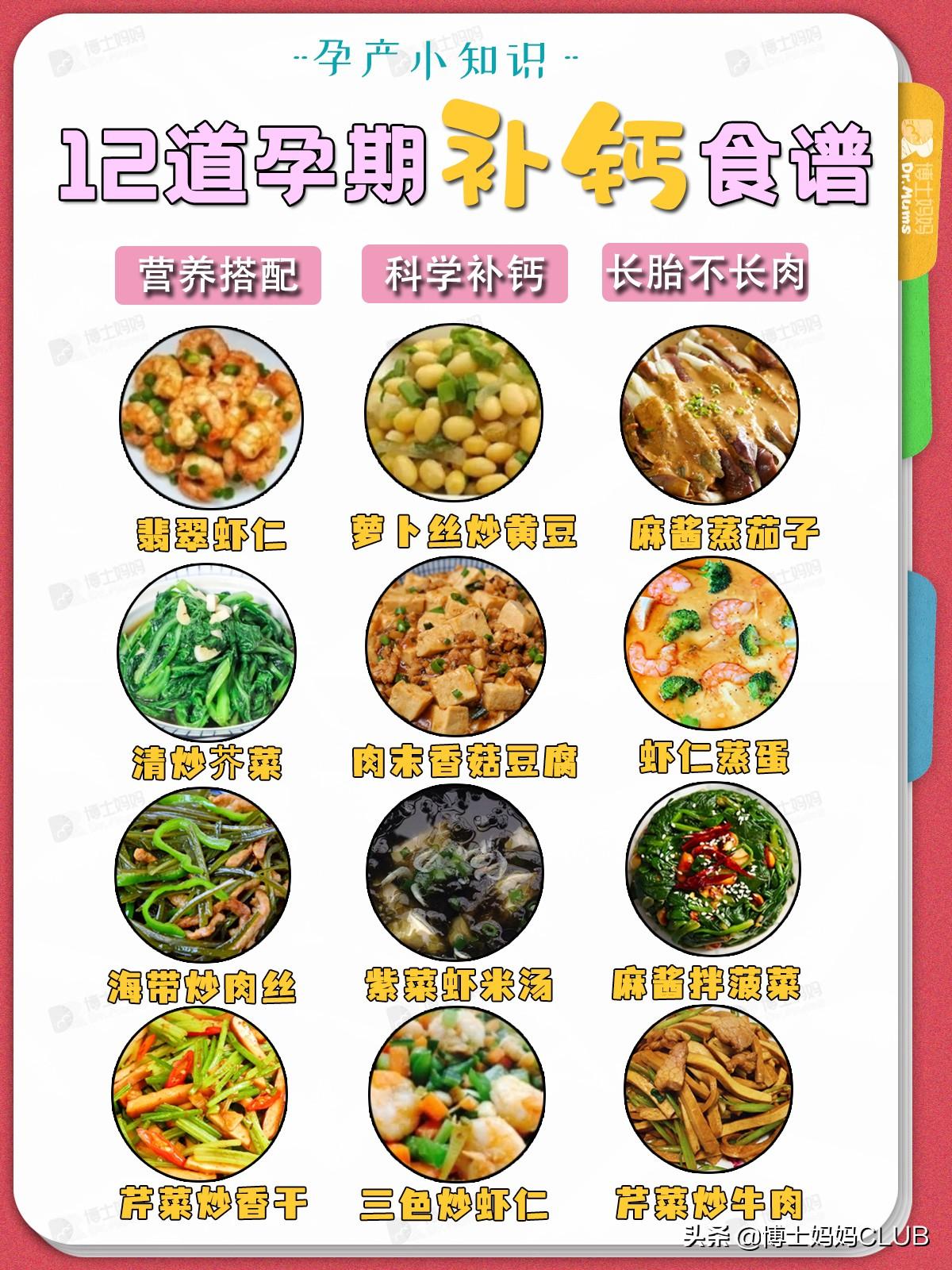 超级补钙食谱,荤素搭配,营养又好吃! 孕妇菜谱做法 第1张