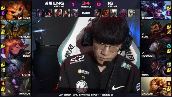 "LOL:iG又""犯病""反向不加班,惨遭LNG 2:0击败"