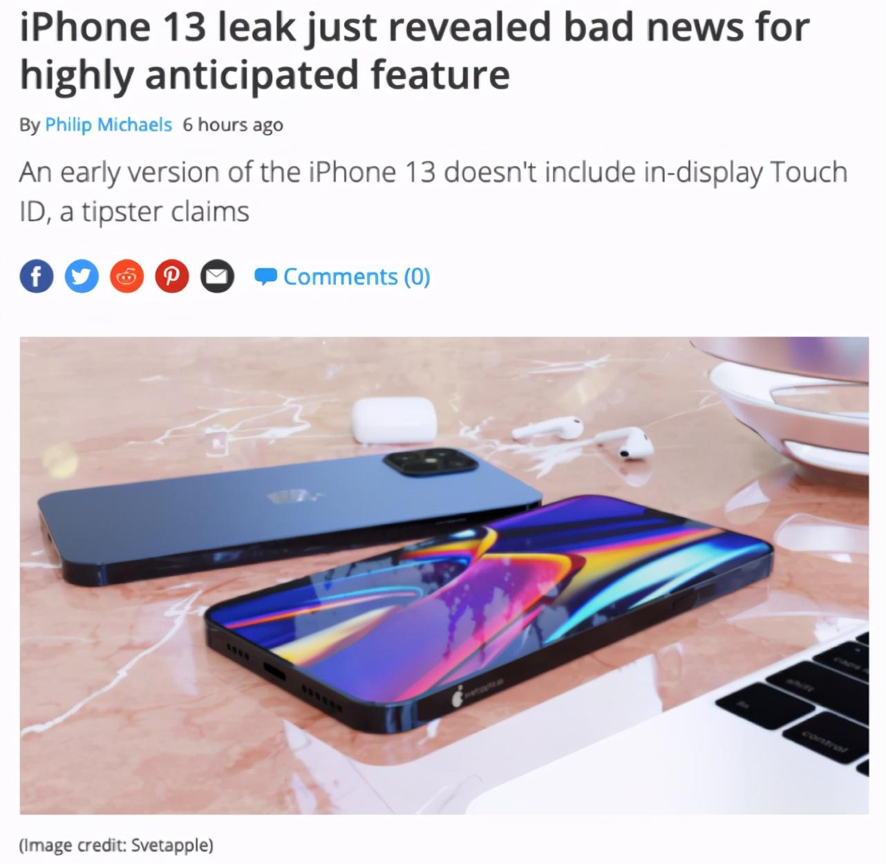 iPhone 13原型机曝光,一些备功能可能会让用户失望