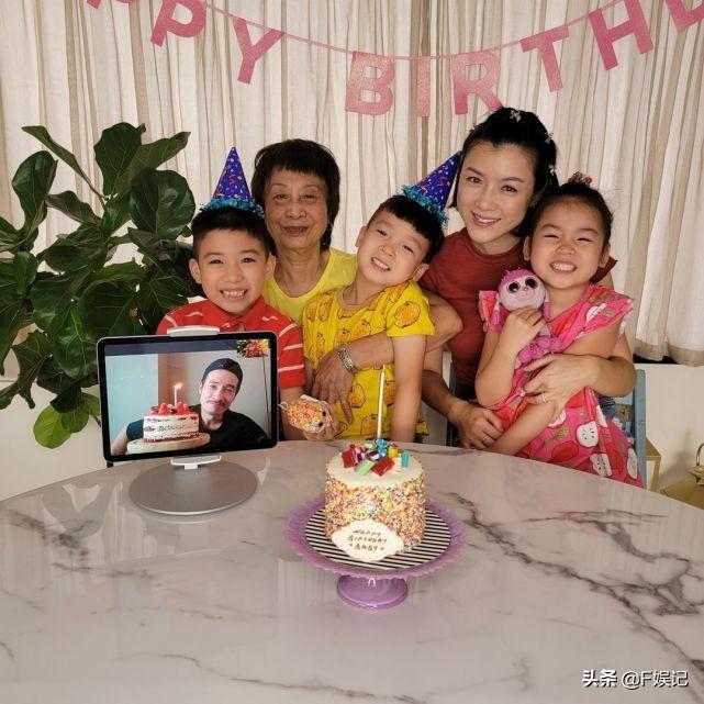 陳豪離家依舊收穫滿滿的愛陳茵媺攜子女在家為其隔空慶生